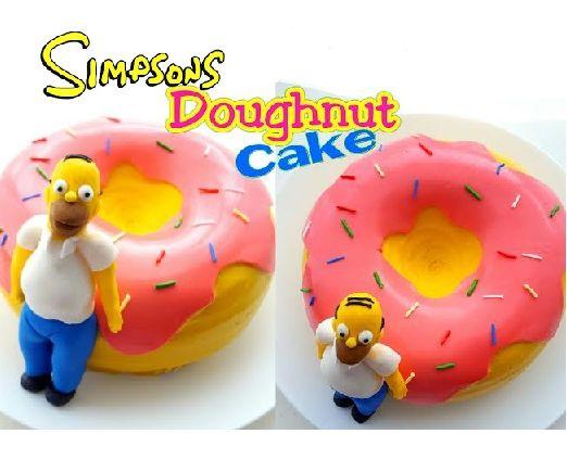 The Simpson's Doughnut Cake