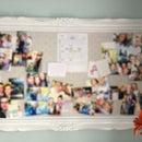 Cork-board picture frame