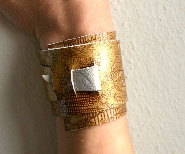 ♥DIY NO TOOLS (2 MINUTS) LEATHER CUFF♥