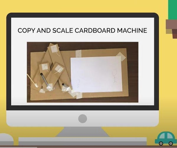 DIY Copy and Scale Machine Using Paper and Cardboard!