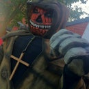 8 feet 6 inches tall, Pumpkin Headed, Keeper of the Graveyard!