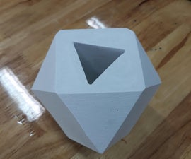 How to Create a Cuboctahedron Mould and Triangular Prism Core Plant Pot Cast!