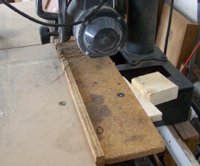 Sears Radial Arm Saw--Homemade Table Clamp