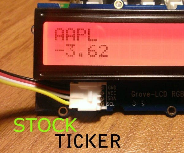 Stock Ticker With LinkIT ONE