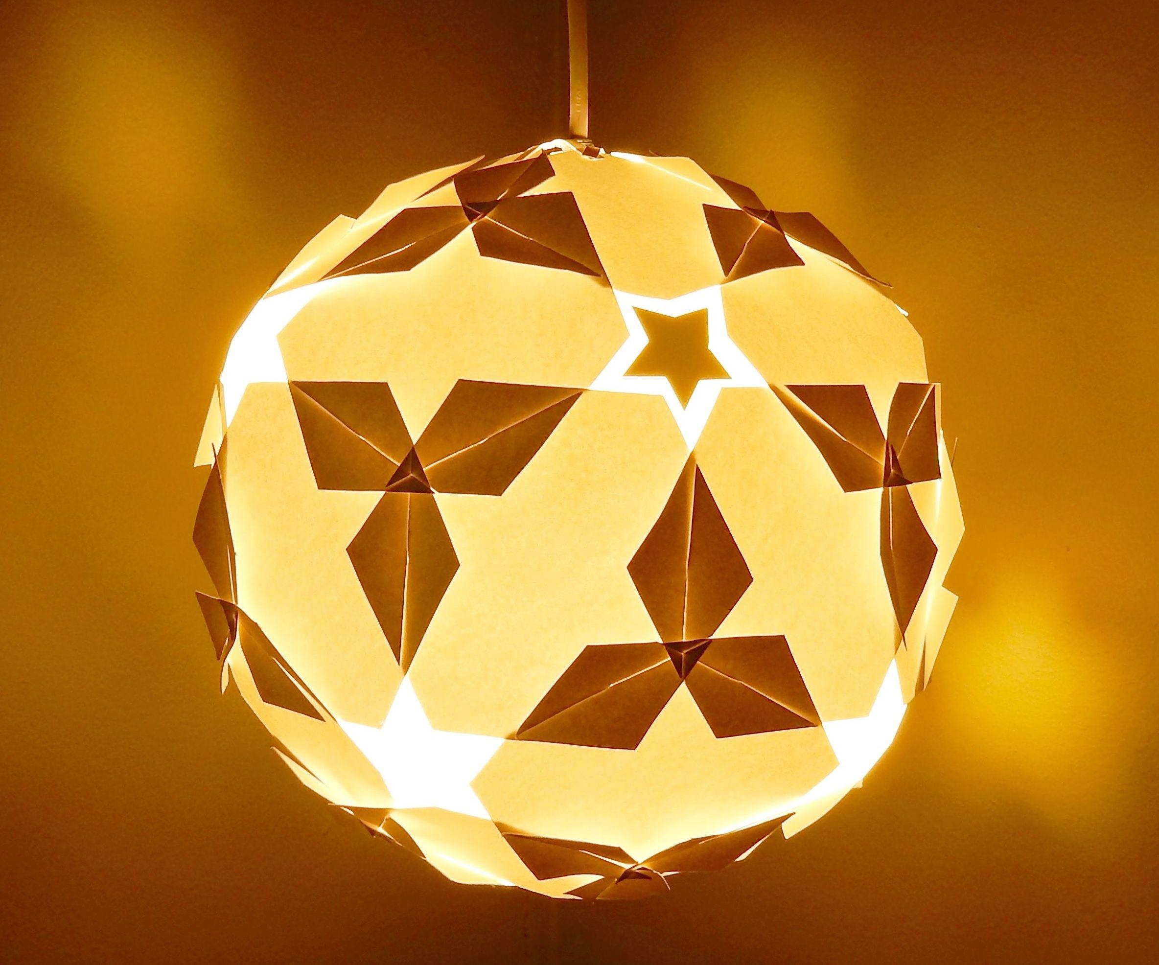 DIY lamp/lantern (star ball)