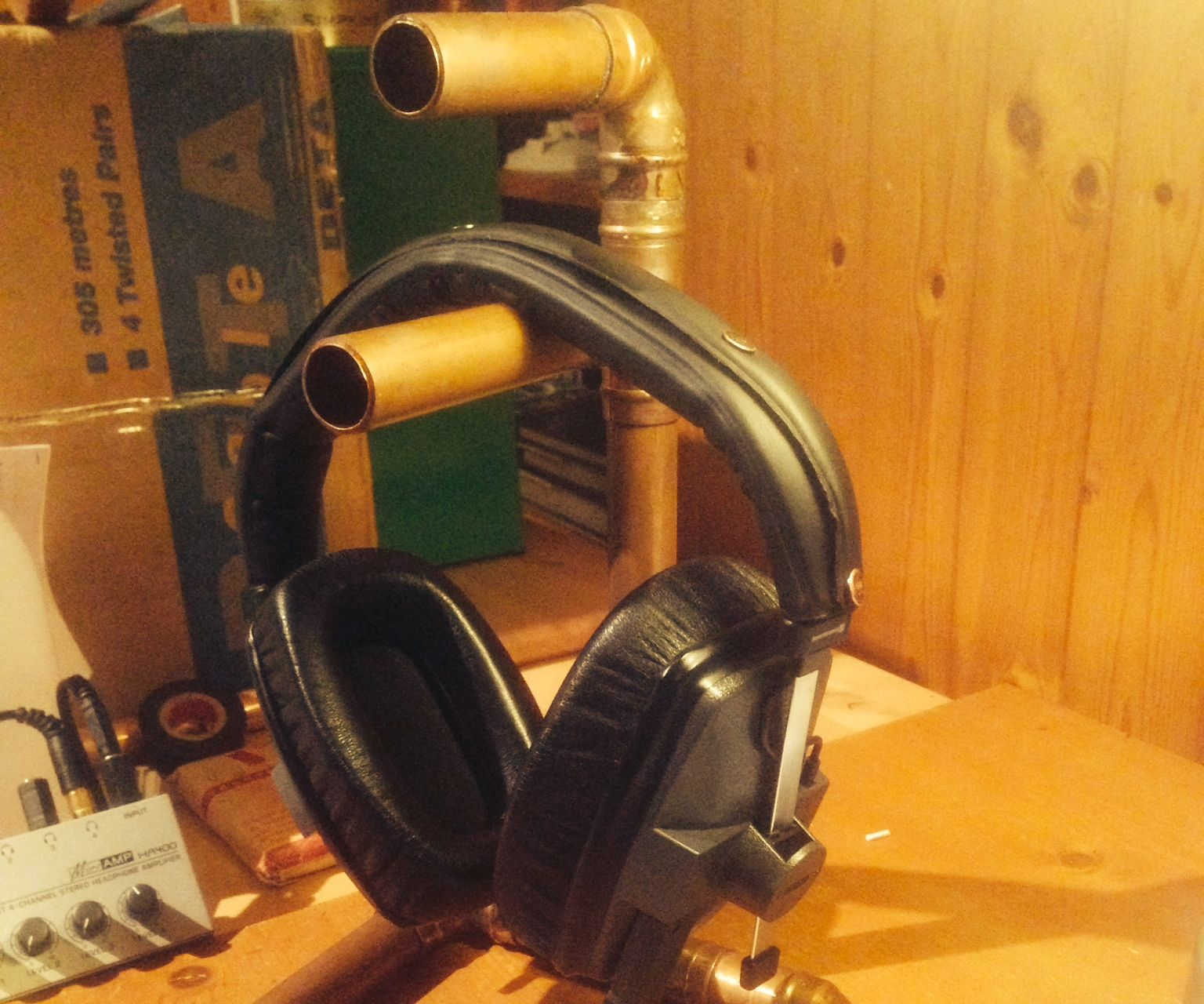 Copper Pipe Headphone Stand