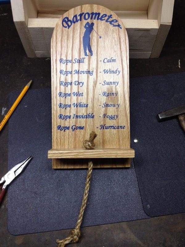 Humorous Rope Barometer