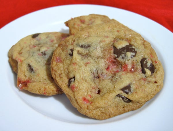 Chocolate Chip Peppermint Stick Cookies!