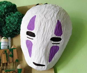 Kaonashi Paper Mache Mask (Ghibli Studio)