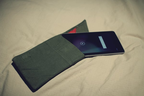 Army Tent Tablet Sleeve (Nexus 7) With Magnetic Clasp and Sleep Switch
