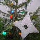 Ninja Throwing Star Christmas Tree Ornament