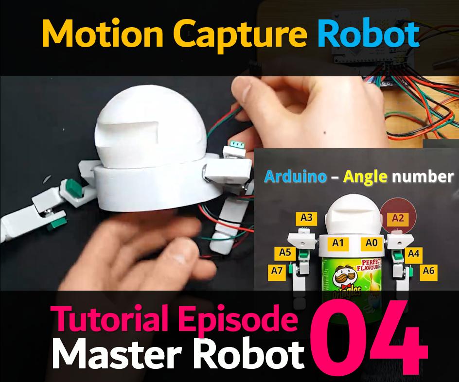 8 AXIS HUMANOID (MASTER) ROBOT (Humanoid Robot EP 04) (Angle Reading Robot)