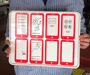 Design Mobile Apps Using This Prototyping Whiteboard