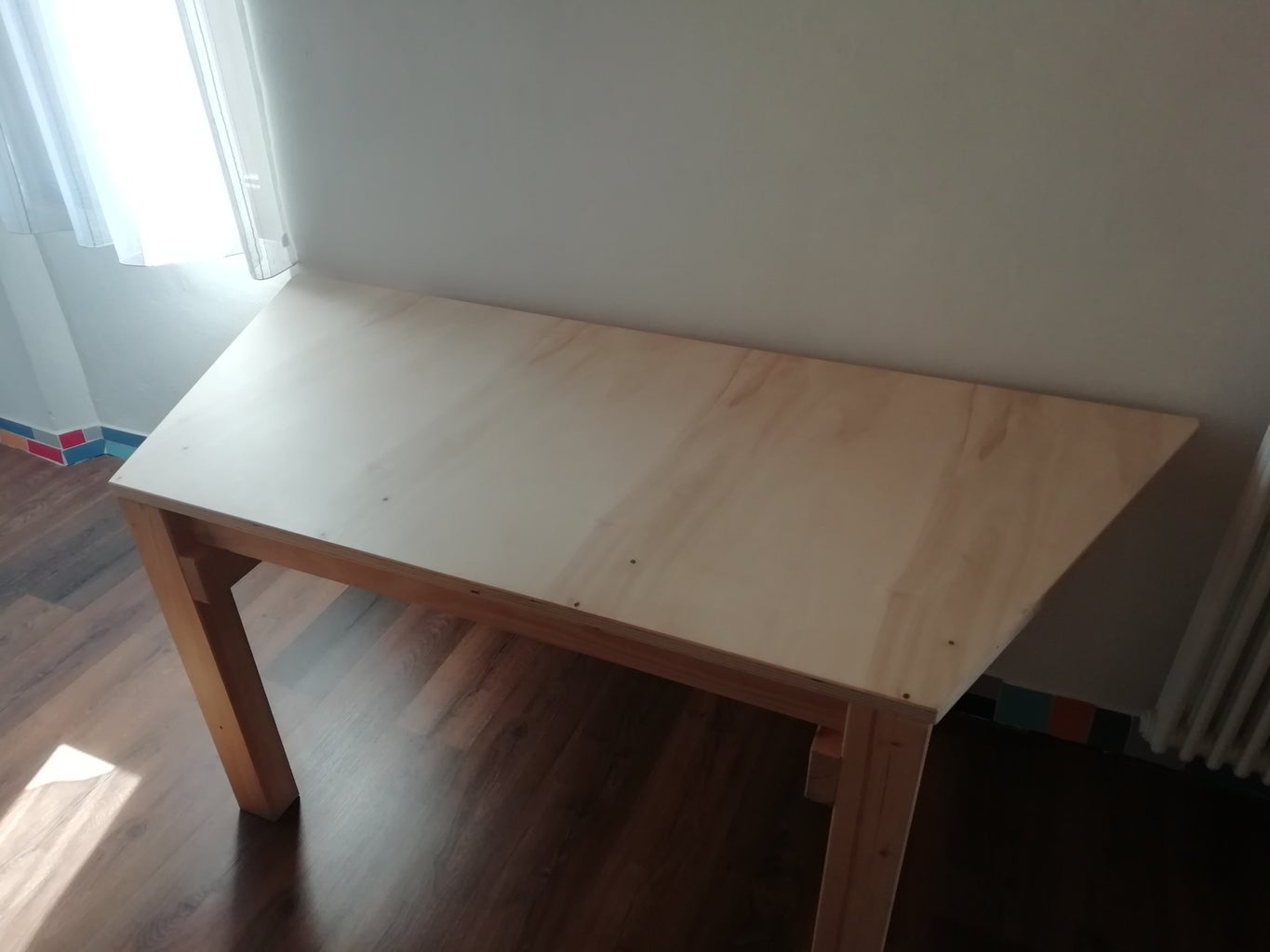 Trapezoid Wooden Table