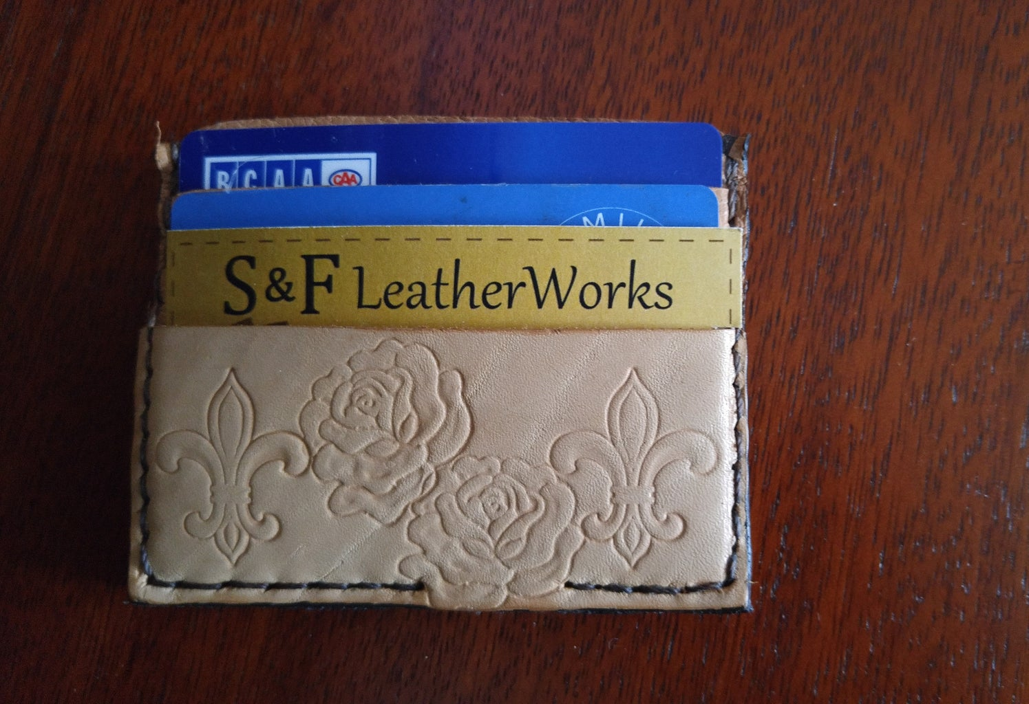 Simple Leather Card Caddy