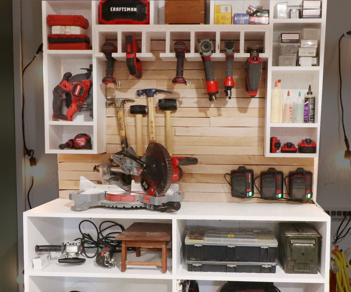 Cordless Drill Charging Tool Wall And Storage Rack 9 Steps With Pictures Instructables