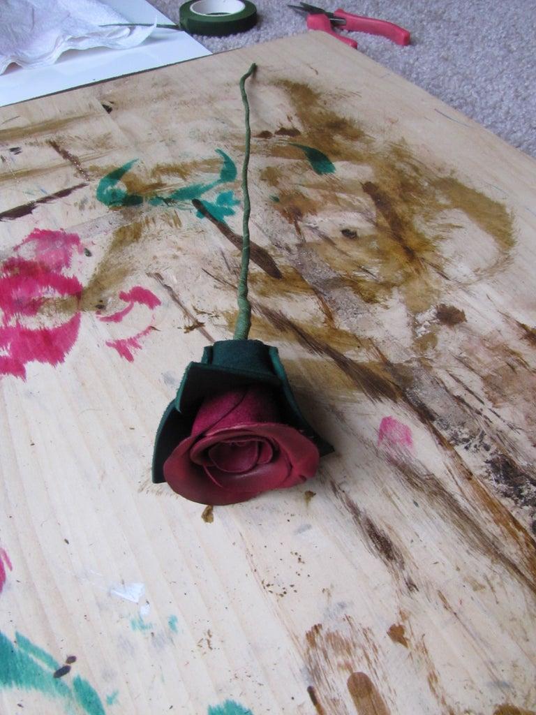 Finishing Leather Rose