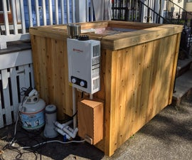Two Person Cedar Hot Tub From an IBC Tote