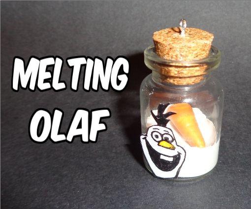 Melting Olaf (Frozen) Miniature Bottle Charm