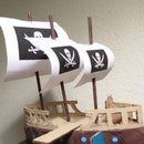 How To Make A Cardboard Ship With Sails and Plank