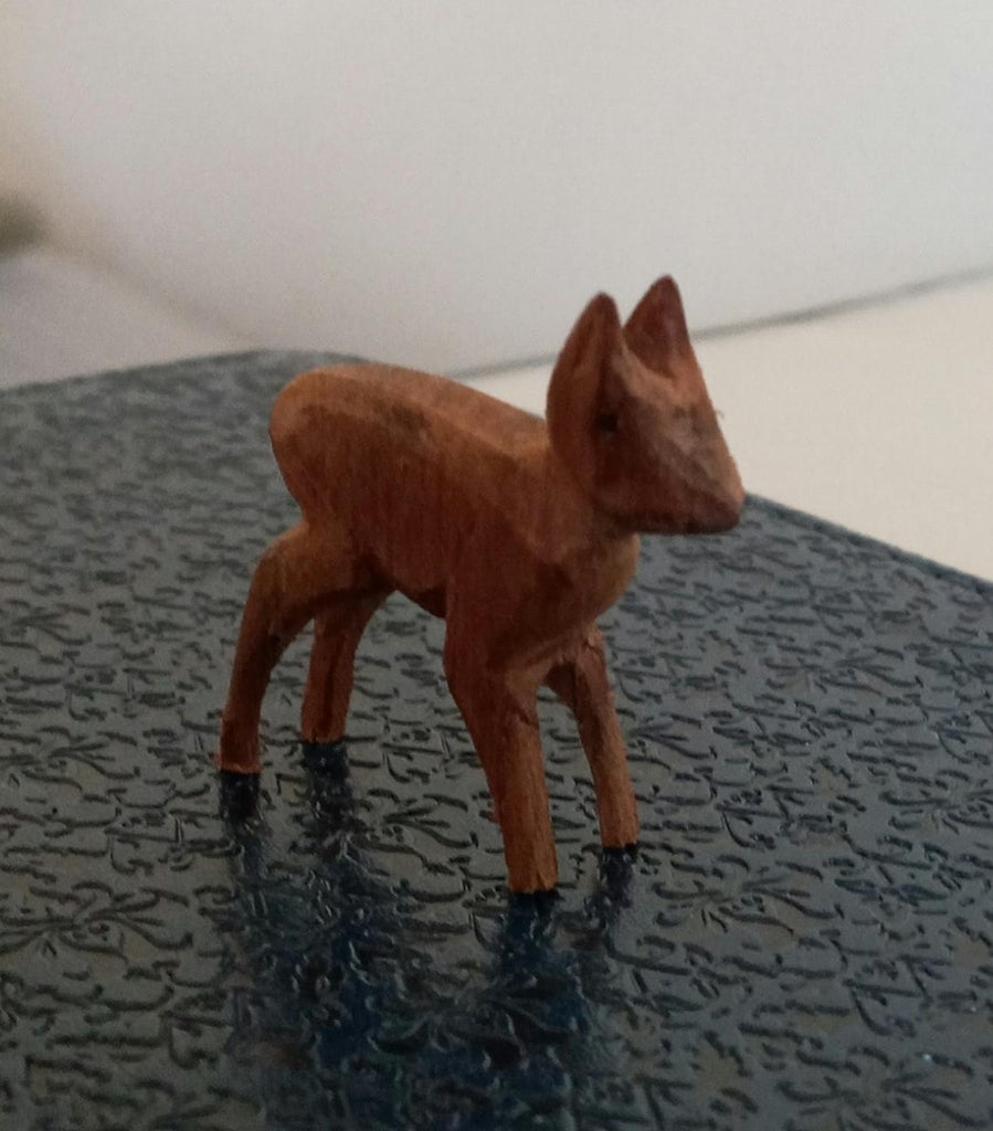 Wood Carving With Files - a Small Deer