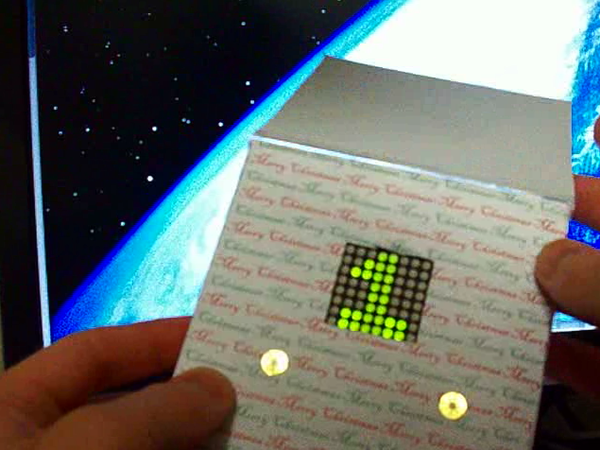 Christmas Card With Inbuilt Retro Video Game for Under $10