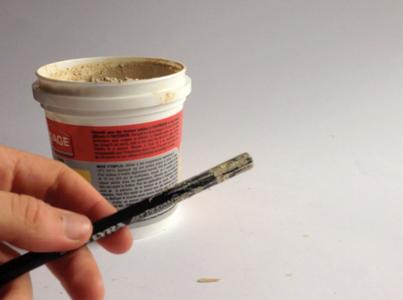 Spread Wood Filler on Pencil