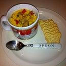 Fire Roasted Spicy Cheesy Chicken Corn Chowda