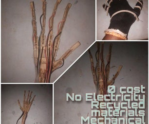 How I Made a Mechanical Hand. No Electricity and All From Junk.