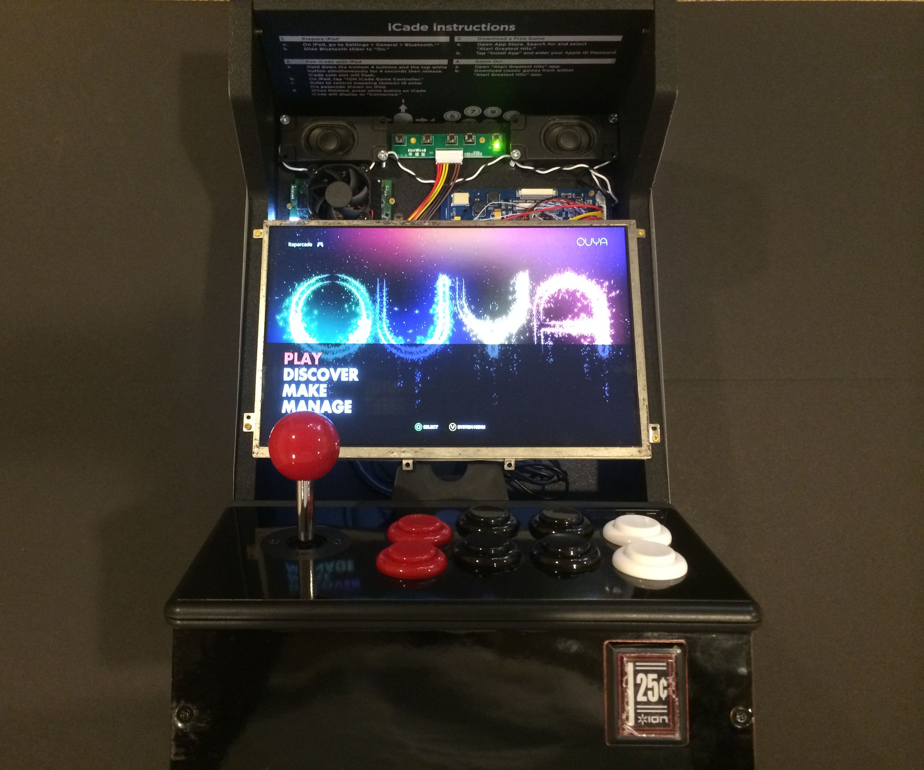O-Cade: Portable OUYA Mini-Arcade Cabinet with Mobile Charging Station