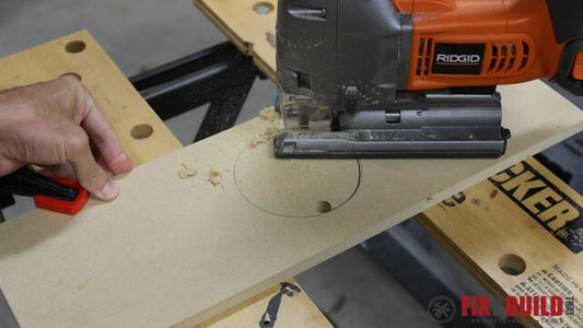 Cut the Pegboard and Downdraft Table Sides