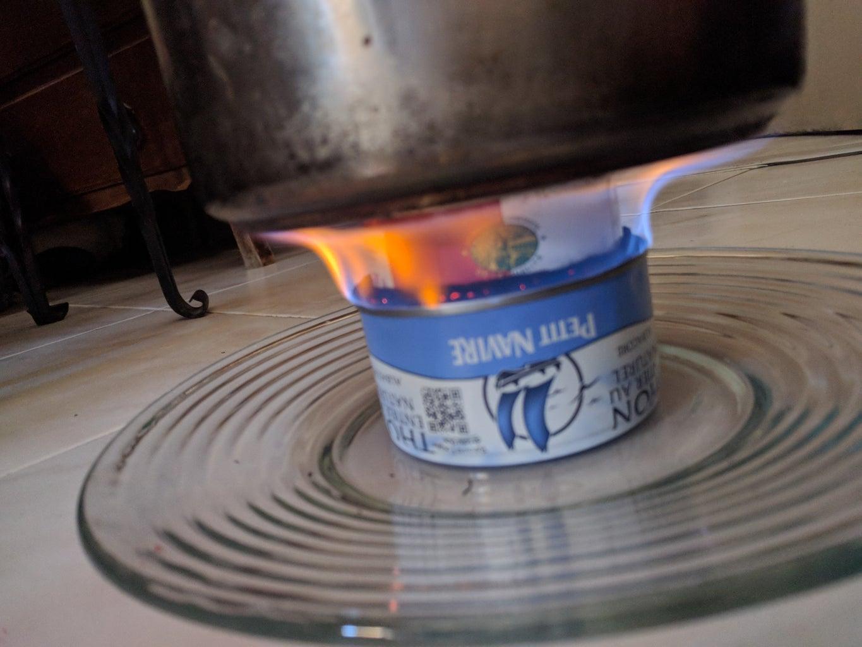 Fancy Feast Stove With Carbon Felt