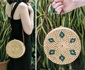 UPCYCLED: Round Straw Bag From a Thrifted Basket