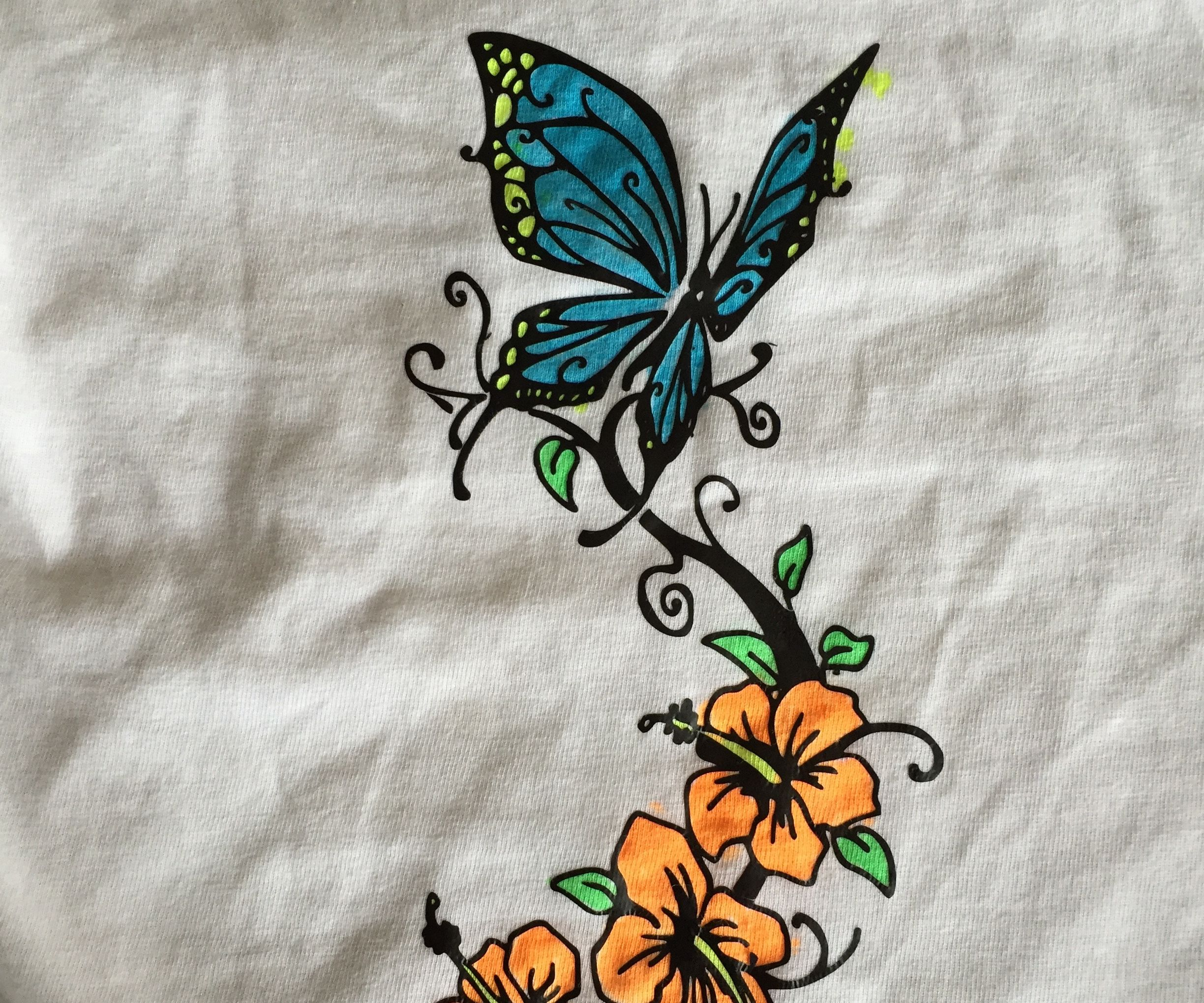 Kid's Coloring on a T-shirt