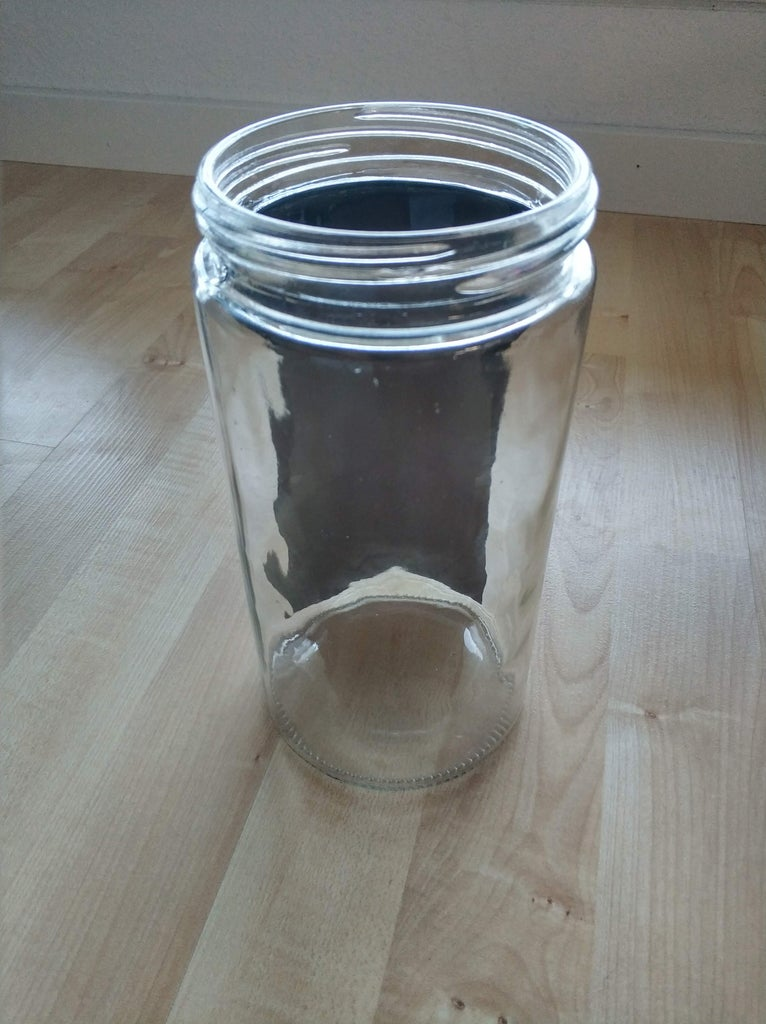 Apply the Solar Film on the Pasta Jar