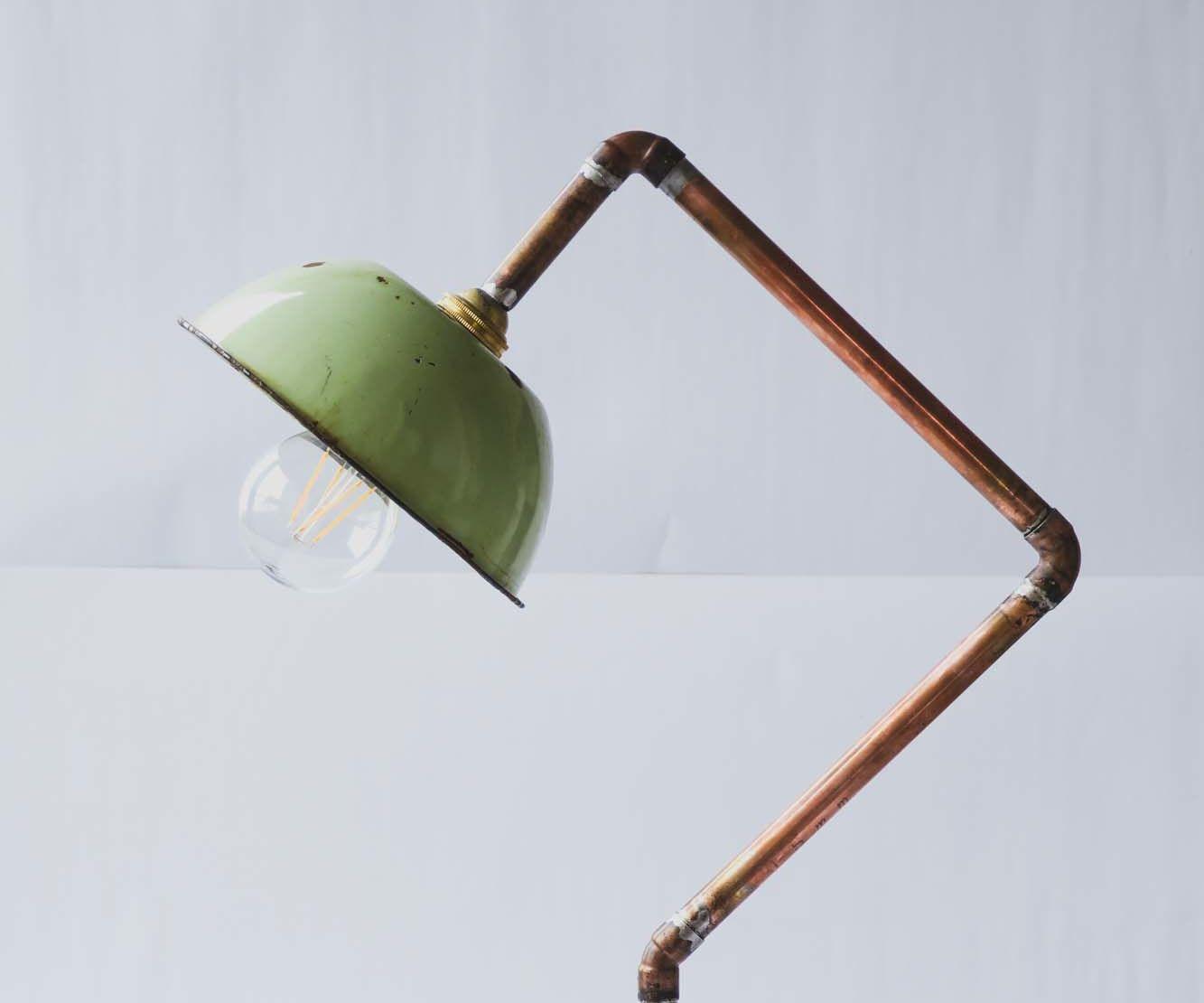 Concrete & Copper Lamp