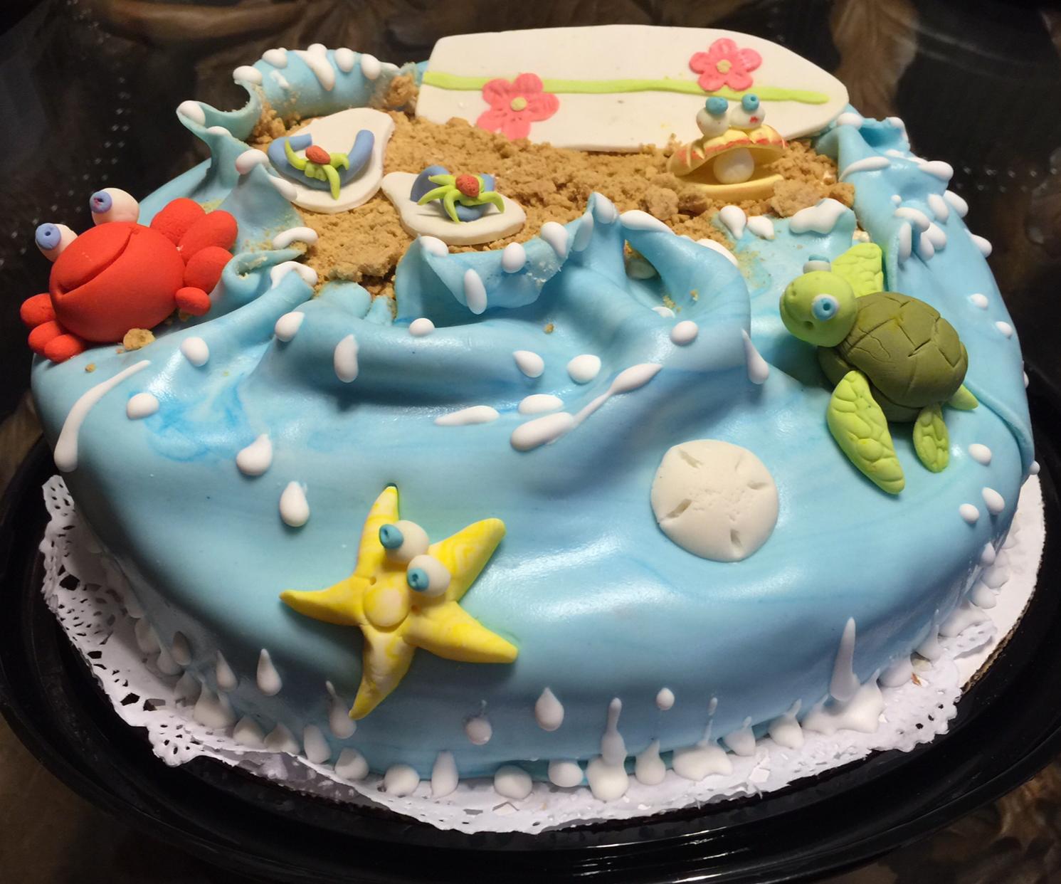Life's a Beach! A Free-Hand Cake Decorating