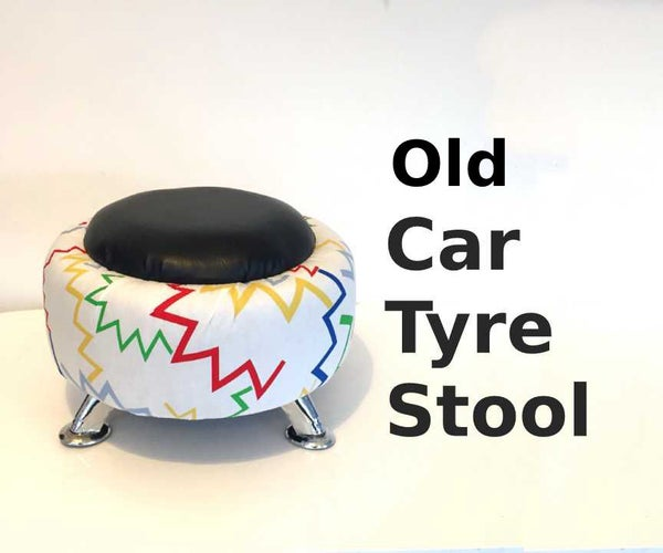 Old Car Tyre Stool