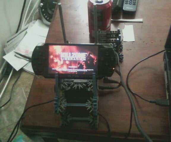 Playstation Portable Charge and Play Dock With Cellphone Holder