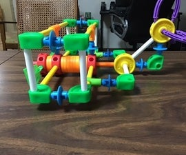 Tinkertoy Biplane With Instructions