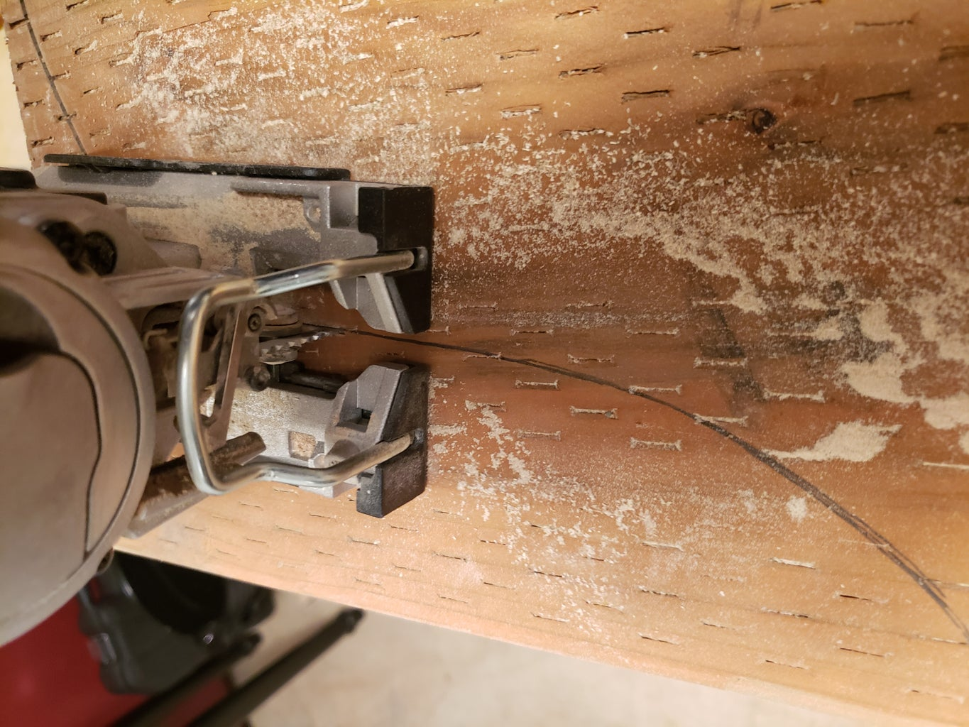 Arch Arbor Front Board Cutting