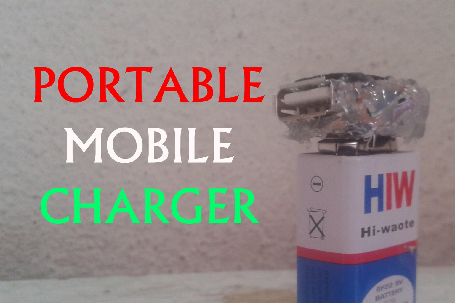 Portable USB Charger - Simple Power Bank