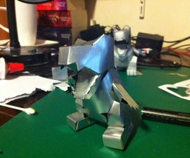 Papercraft With Aluminium Cans