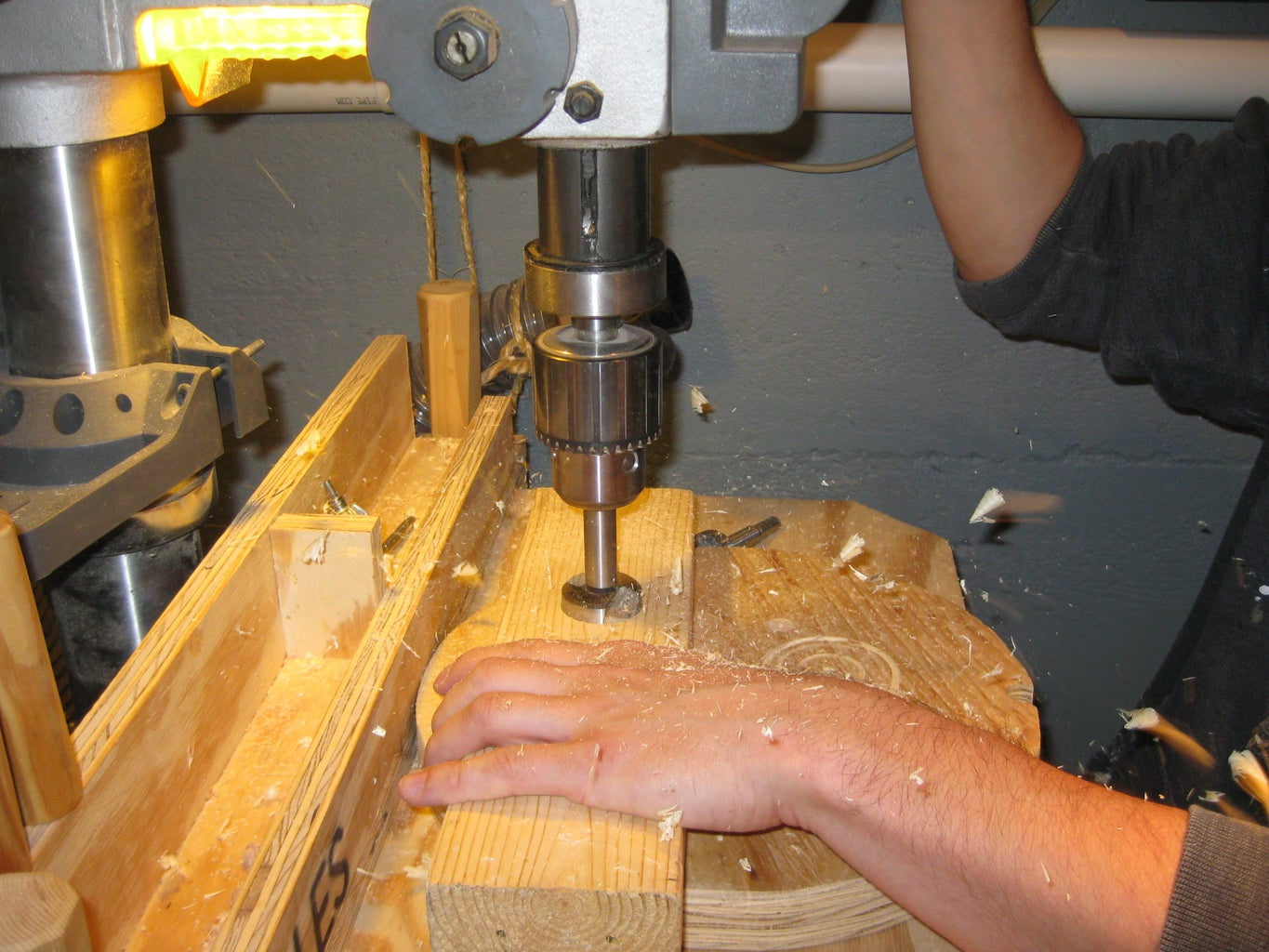 Drill the Larger Hole