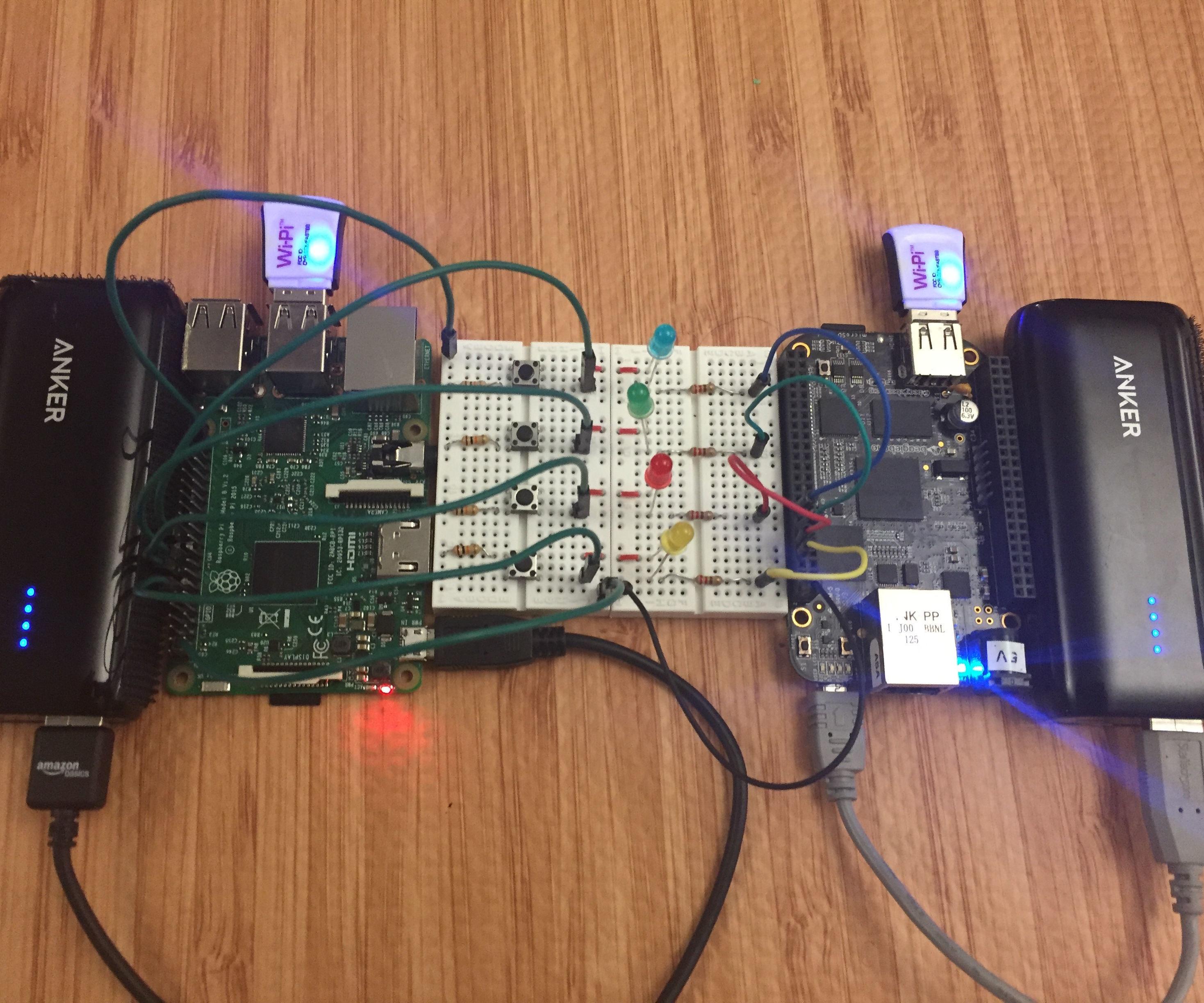 Using a Raspberry Pi to Control a BeagleBone Black over Wi-Fi