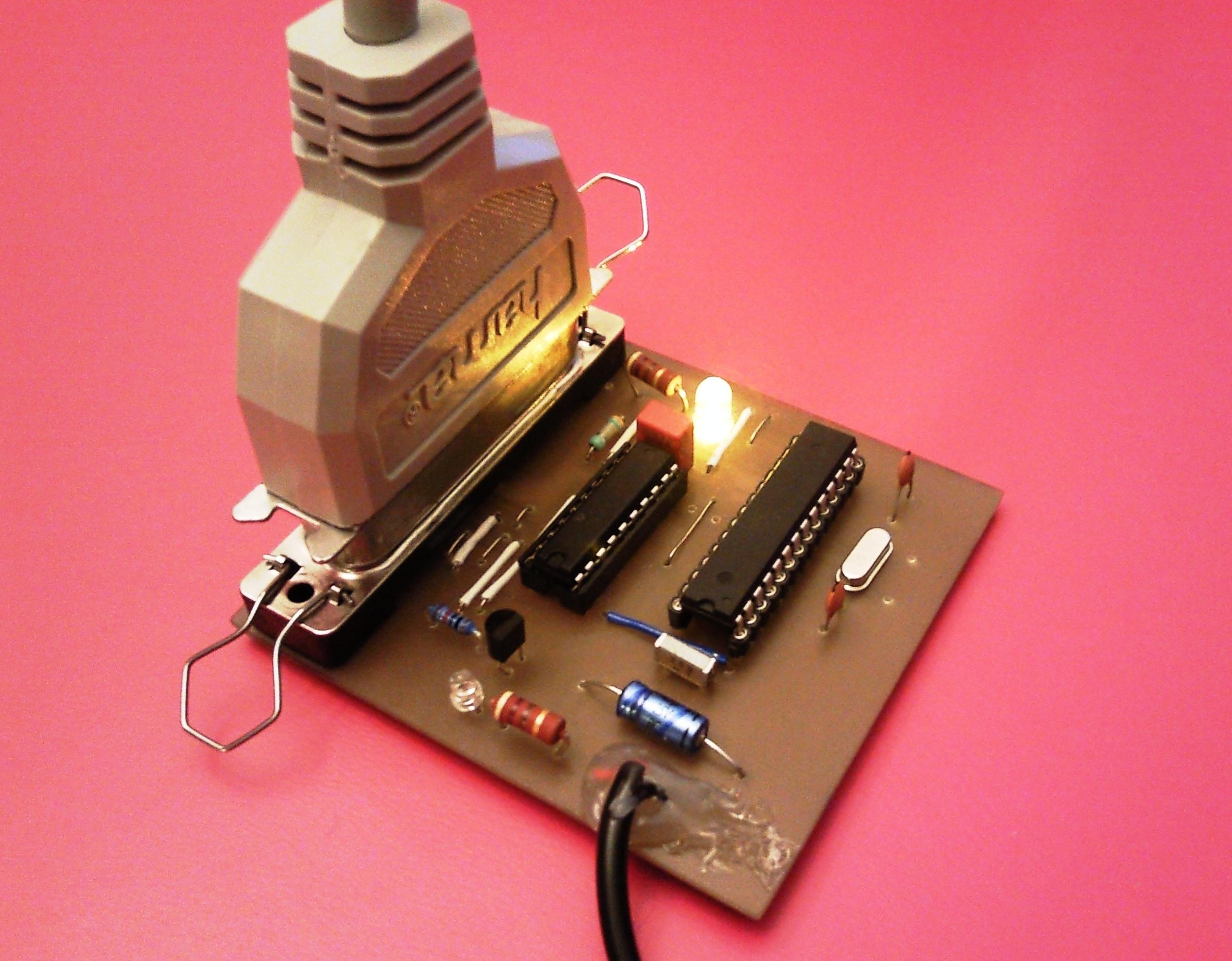 Parallel AVR programming board