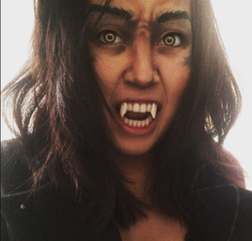 Werewolf Teeth and Blood +checking the Finishing Touches