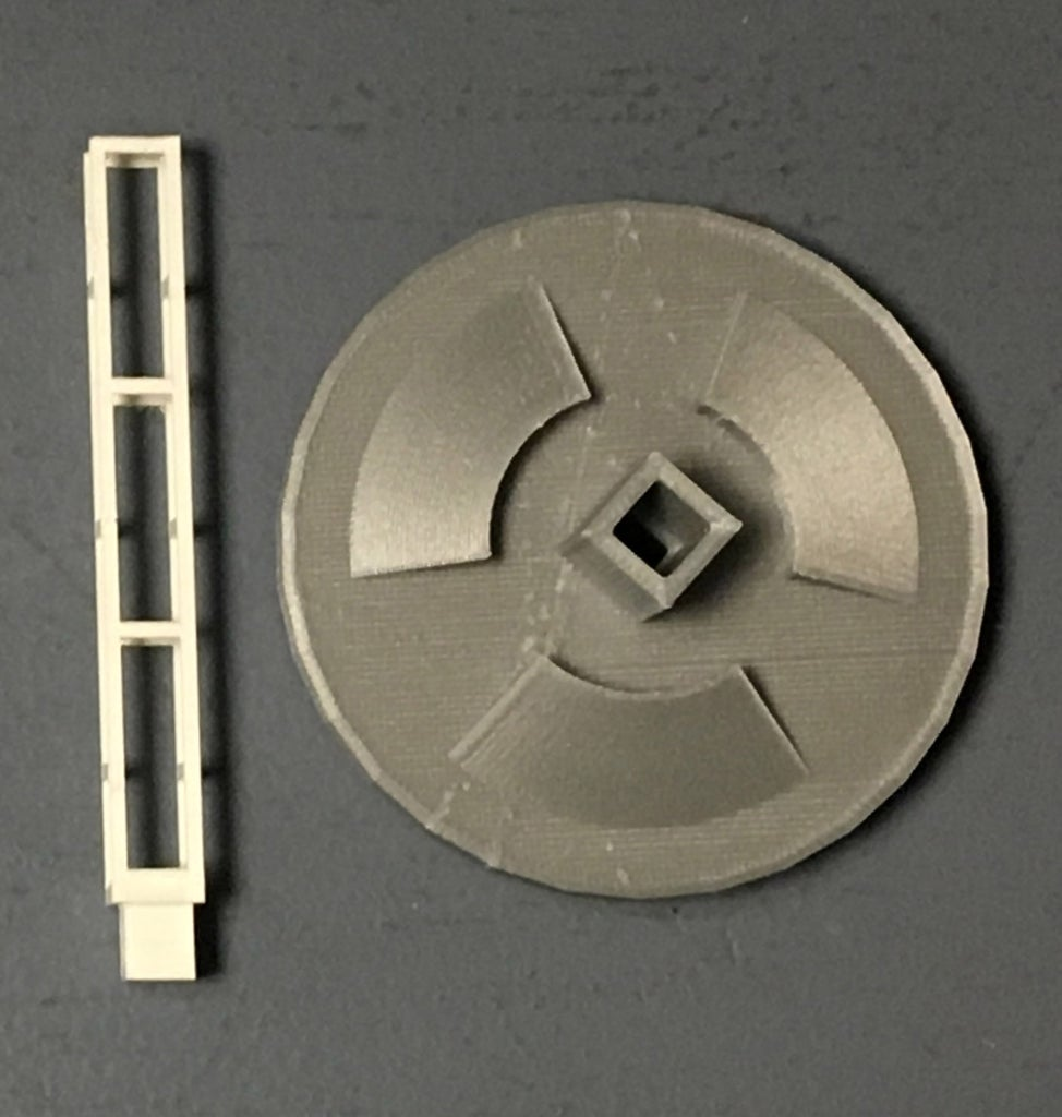 Create Support Structure for Illuminating and Rotating the Lithophanes