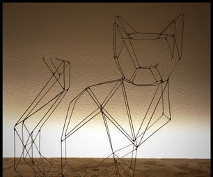 Wire Art Cat or Solder a Wire Frame Animal
