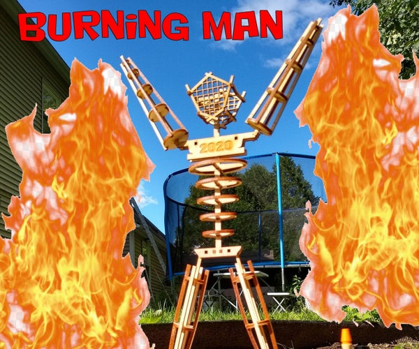 Mini Burning Man Home Burn Kit